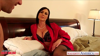 Seductive friend's mammy Kendra Lust becomes his arch chick