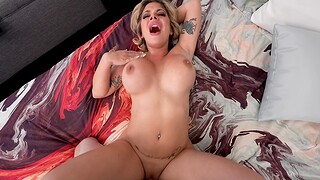Busty neonate Sara St Clair gets her tight pussy pounded in POV