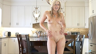 Naughty wifey Velvet Skye takes off the brush panties in the caboose