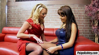 Paige Ashley takes show one's age out on the town lesbian fun