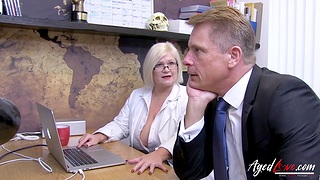 AgedLovE Busty Mature Lacey Starr Showing Her Nudes to Marc Kaye And is Fucked Hard