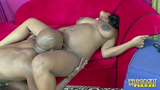 Thick sombre hottie has on all sides of the right moves for a black bull