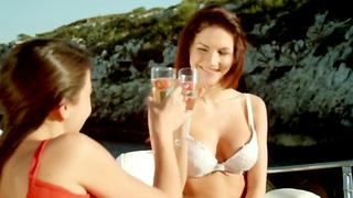 Erotic Lesbians Making Fun Love Outdoors  Making Enjoyment