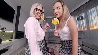 Blonde Teen Hotties Fuck Take the lead VR Compilation