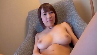 Horn-mad solo Japanese girl drops her glad rags and plays with her cunt
