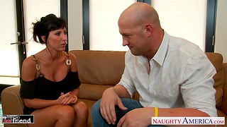 Wife's slutty side Lezley Zen gives a good blowjob and rides on detect like sex-starved bitch