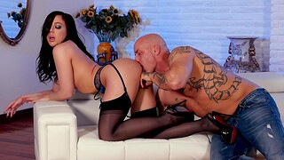 Tattooed alms-man with a large cock fucks desirable Whitney Wright