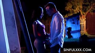 Moonlight sex ot hypnotizing erotic porn featuring duo couple