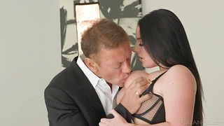 Gorgeous milf with fucking awesome boobs Angela Characterless gets her anus rammed