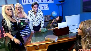 Hardcore fucking relating to an obstacle office with busty Gemma Massey and guests