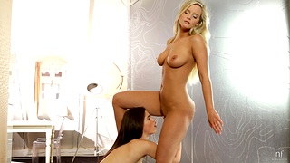 Amazing lesbian pussy attrition the greatest Caprice and Marry Big cheese