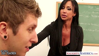 My first sex with fucking hot full-grown teacher Jewels Jade