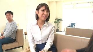 Passionate quickie in the elevator around stunning Harusaki Ryou
