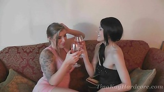 Sizzling babe Tina Kay loves sharing a big blarney with choice chick