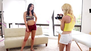 Video of amazing threesome upon models Aidra Fox with the addition of Skylar Green