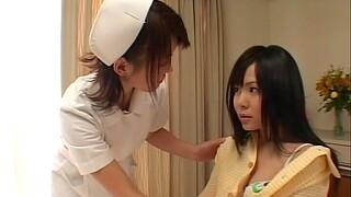 Horny lesbian nurse licking her patient's pussy - Konomi Sakura