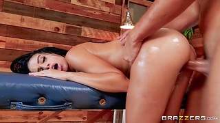Super hot Latina babe Victoria June is first and foremost on their way boyfriend with masseur
